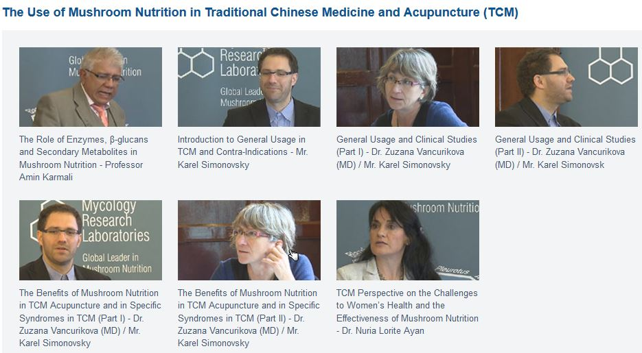 The Use of Mushroom Nutrition in Traditional Chinese Medicine and Acupuncture (TCM)