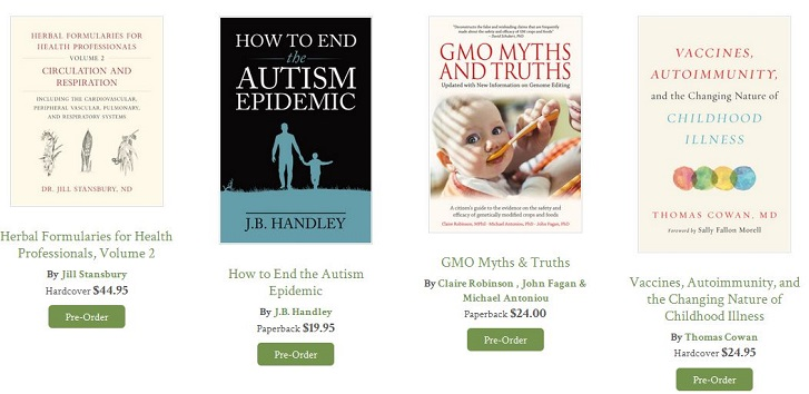 Chelsea Green Vaccines, Autism GMO Titles