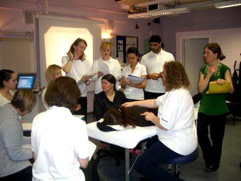 Carole Preen with Students at Morley College