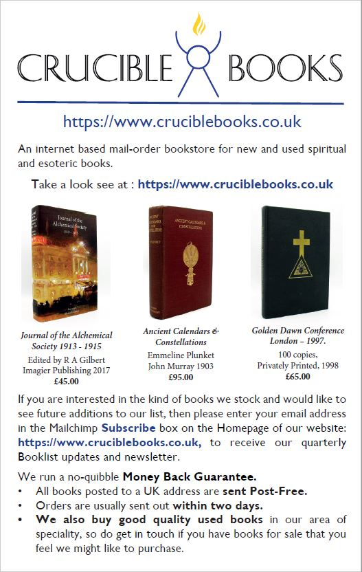 Crucible Books Advert