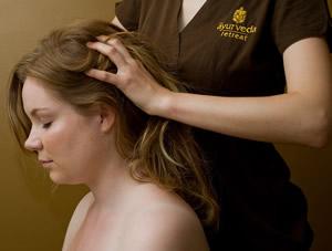 Giving head massage