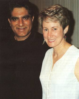 The author with Deepak Chopra