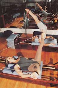 Pilates demonstration with pulley