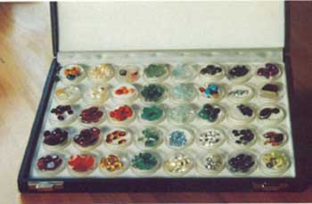 Figure 6 Gem stones used in Electronic Gem Therapy