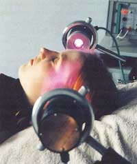 Figure 7 Relaxing 'Samadhi' or 'Bliss' therapy using Sapphire at Theta brain waves