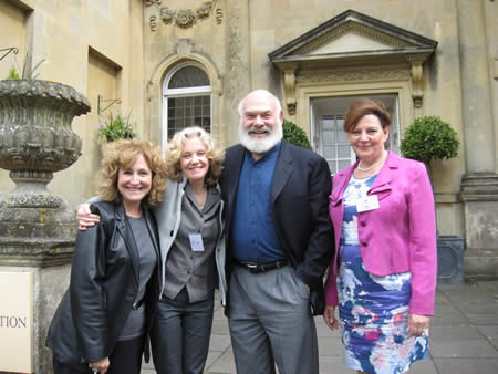 Dr Andrew Weil along with his partner Betty Anne, IHT patron Hayley Mills and Dr Rosy Daniel