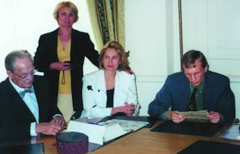Conference on the 10th June 1999. Drs: KP Buteyko, N Lapa, T Voronina & S Lapa