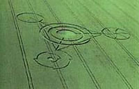 The Times reported on the 18 June 2008 that a Wiltshire crop circle contained the symbolic code for first ten places of pi