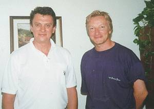 The author (right) pictured with Iouri