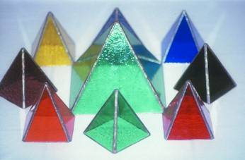 Colour remedies can be made using glass pyramids which also energize flower essences