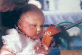 2. Baby 'Jade'. Kendal. Cumbria. Four month old baby girl. 26 March 1996