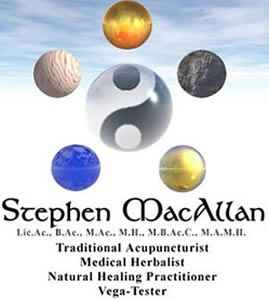 [Image: Stephen MacAllan Acupuncture Allergies Vega Test]