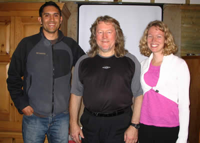 Robert and Joanne with Alan Sales in 2008