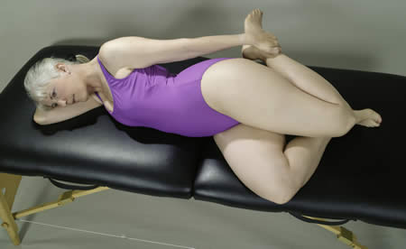 Quadriceps Side-lying stretch