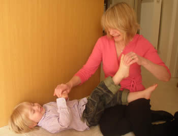 Adaptive reflexology for a toddler