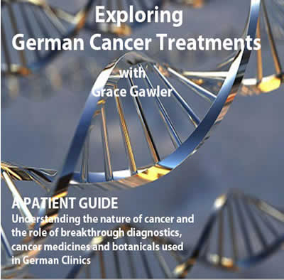 Exploring German cancer treatments silver background