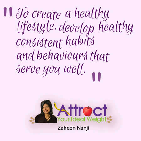 Zaheen Nanji create a health lifestyle