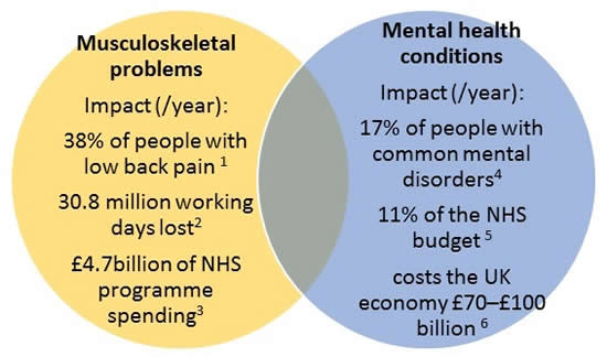 Musculoskeletal Problems and Mental Health Conditions