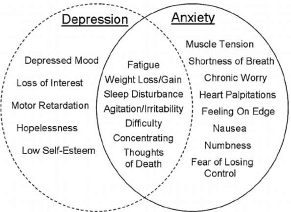 Anxiety vs depression venn 1