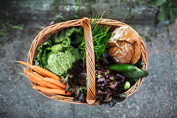 Basket of Fibre-Rich Foods