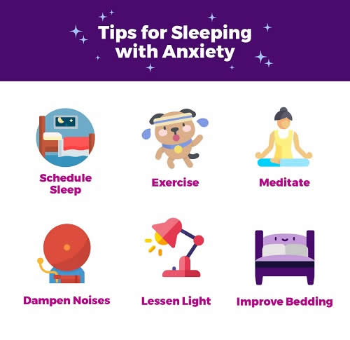 Tips for Sleeping  with Anxiety