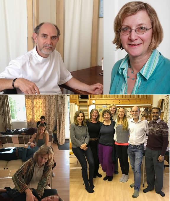 Jonathan Lawrence BA DO Cert Ed; Rosemary Lawrence Dip BFD Cert Clin Hom Cert Ed; Class; Craniosacral Course 2017