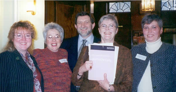Carole Preen, Nina Ashby, Lawrence West, Joyce West, Lesley Grimwood 2002.