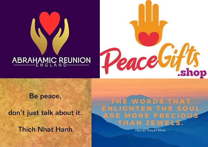 ARE Logo + Peace Gifts.Shop Logo + Khan Quote + Thich Nhat Hanh