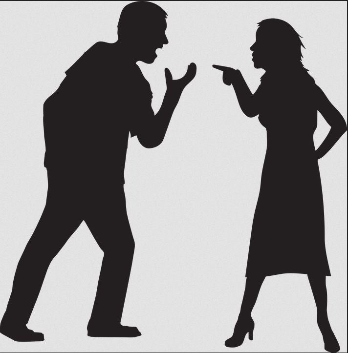 Male and Female Arguing