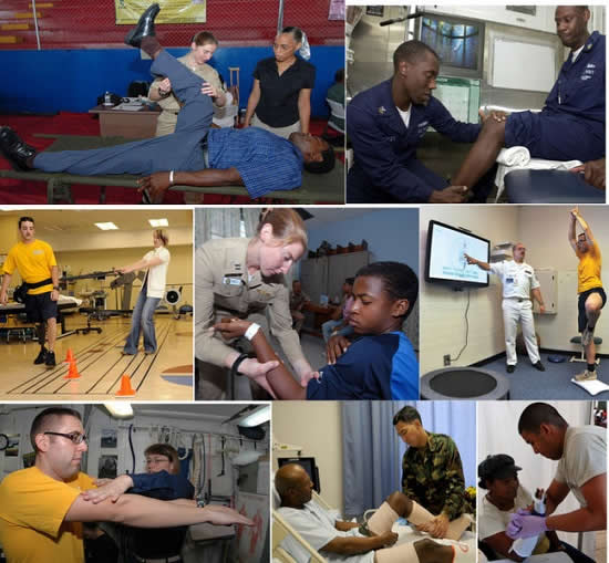Physical Therapists at Work. Courtesy: Wikipedia