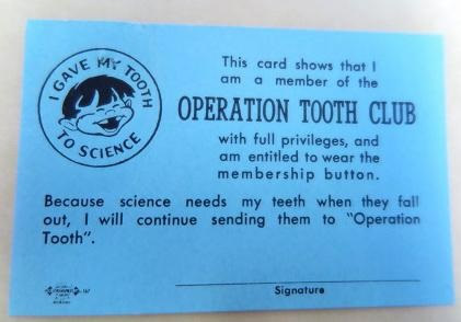 Operation Tooth Club Card