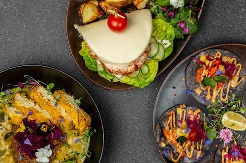 S&G Bao Burger, Katsu Curry, Blue Corn Tacos