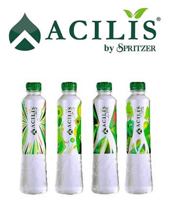 Acrilis Logo + 4 Bottles