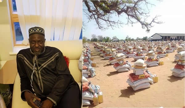 Imam Jaiteh Distributing Food to Needy People, Schools and Orphans in the Gambia