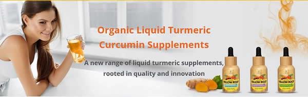 Organic Liquid Turmeric Curcumin Supplements