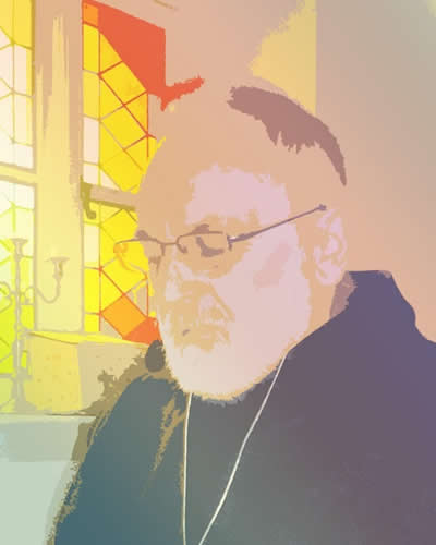 Brother Marcus of the ODP [Order of Dionysis and Paul] in Meditation