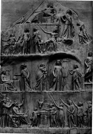 Stone Carving of Mount Olympus