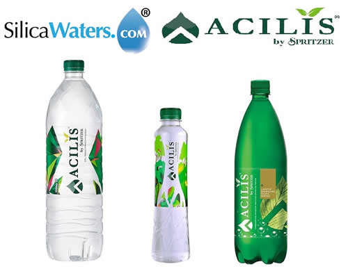 3 Products + Silica Waters and Acilis Logos