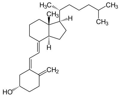 Structure of Cholecalciferol Courtesy Wikipedia